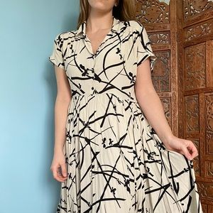 URBAN OUTFITTERS abstract midi dress